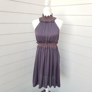 Theme Women's Halter Ruffle Slip Dress Sm